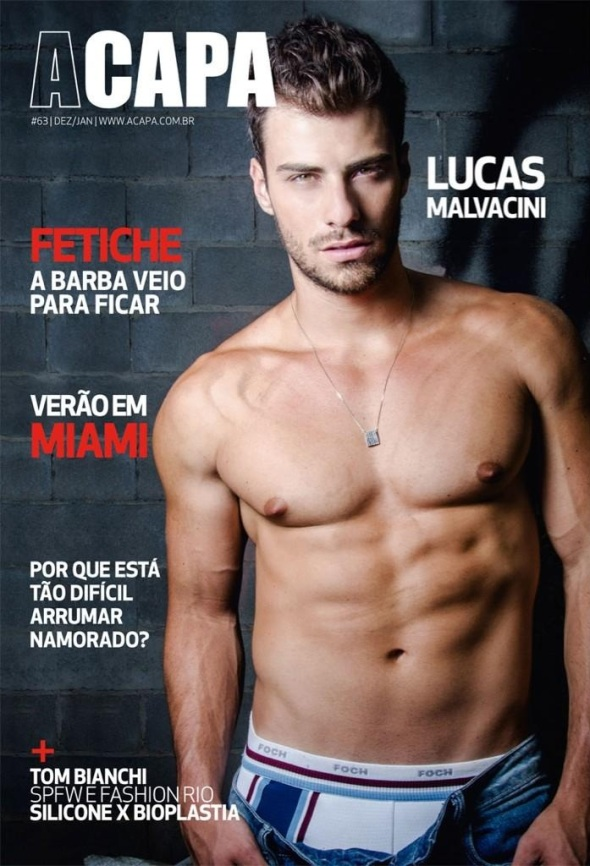 Lucas Malvacini @ A Capa #63 by Leo Castro