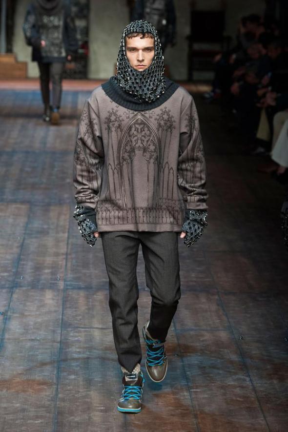 Alex Cunha @ Dolce&Gabbana Milano FW14
