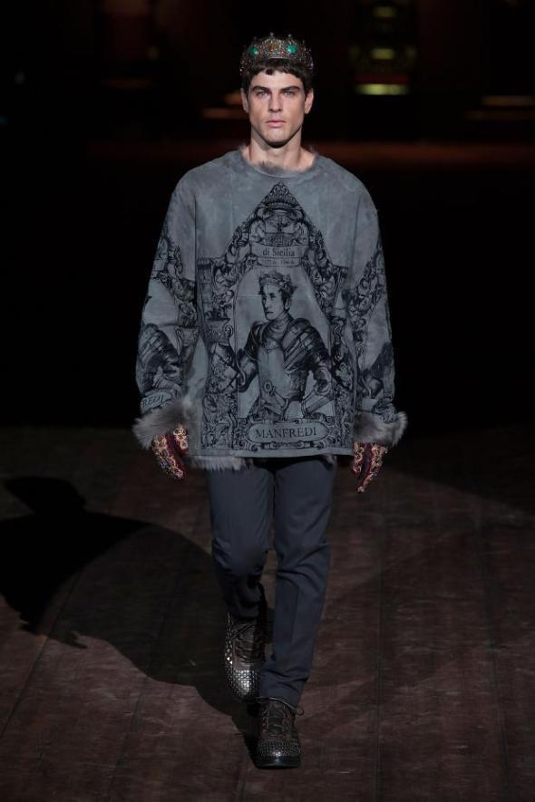 Evandro Soldati @ Dolce&Gabbana Milano FW14 02