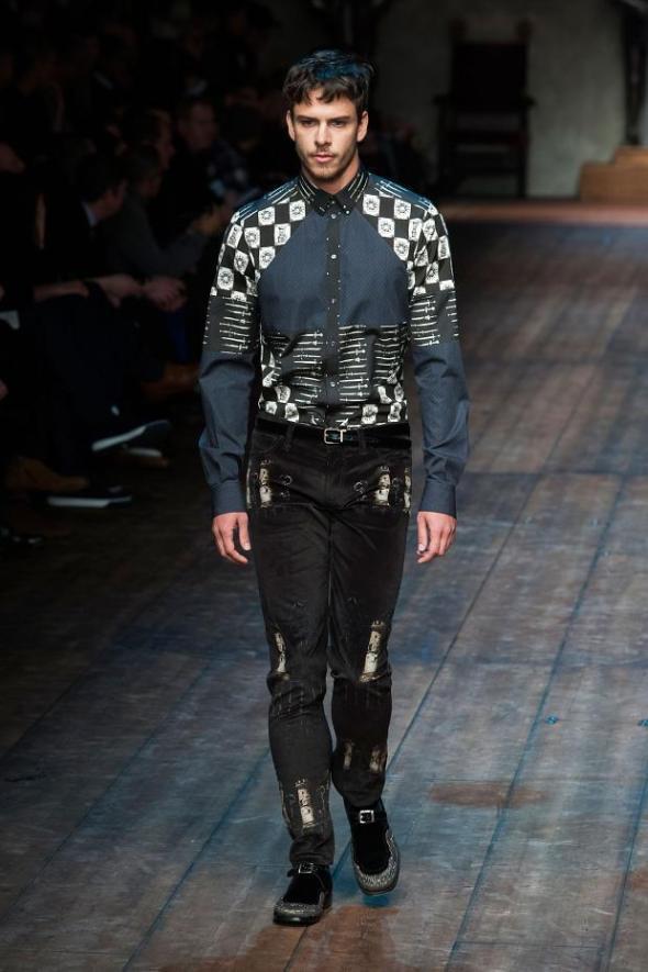 Ricardo Figueiredo @ Dolce & Gabbana Milano FW14 01