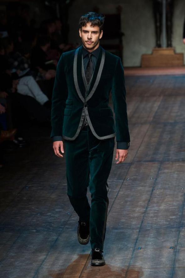 Ricardo Figueiredo @ Dolce & Gabbana Milano FW14 02