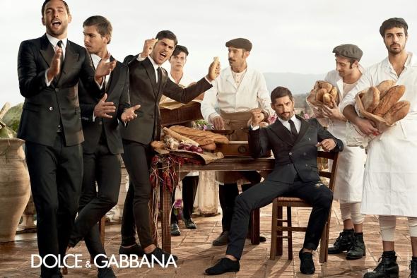 Tony Ward +  Adam Senn + Noah Mills + Evandro Soldati @ Dolce&Gabbana 01