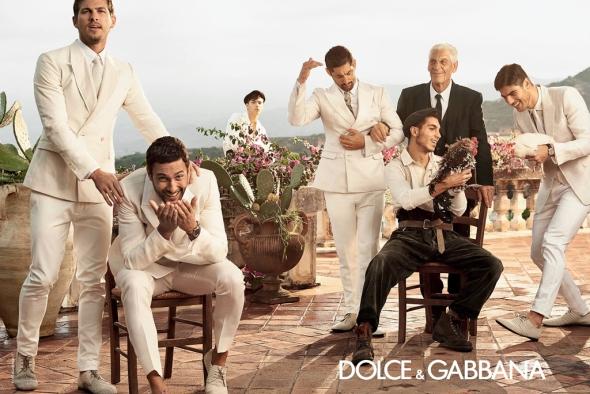 Tony Ward +  Adam Senn + Noah Mills + Evandro Soldati @ Dolce&Gabbana 03