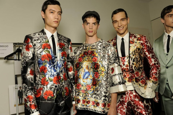 Dolce & Gabbana SS15 Milano @ Backstage 04