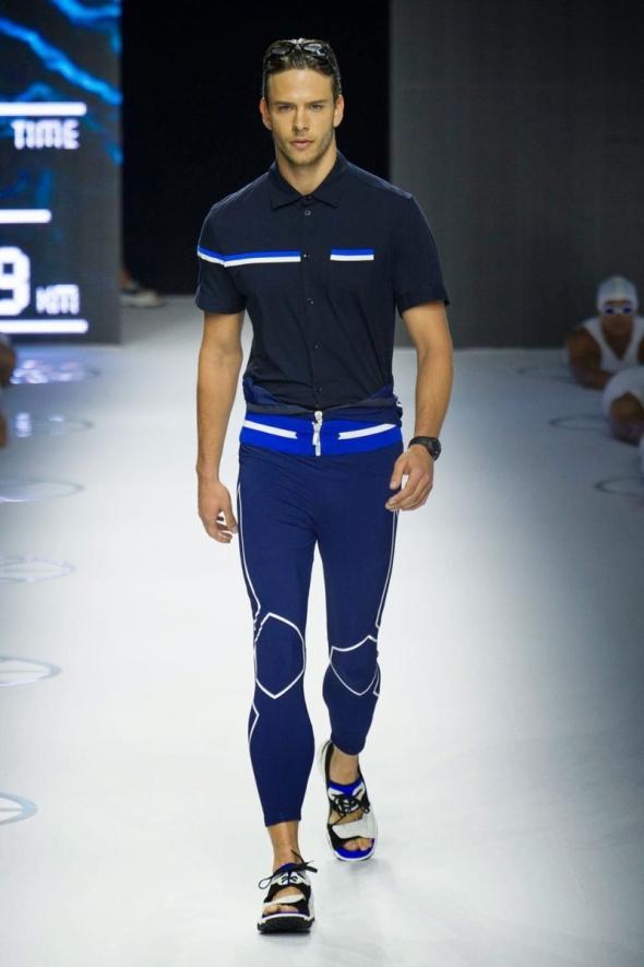 Ricardo Figueiredo @ Dirk Bikkembergs SS15 Milano Moda Uomo 01