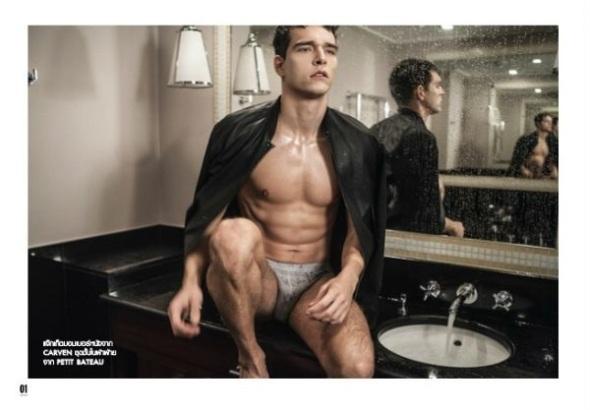 Alex Cunha @ LO'fficiel Hommes Tailandia SS15 by Robin Galiegue 10